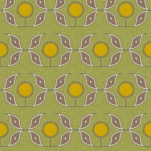 sun and flower linen