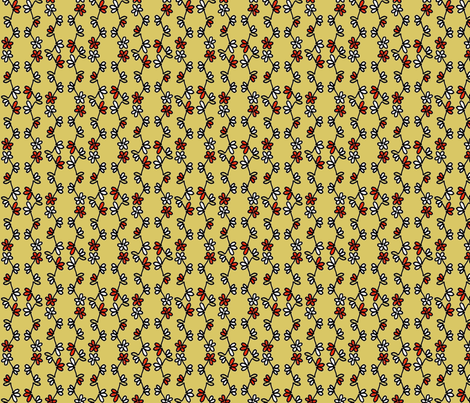 Doodle Buds fabric by kdl on Spoonflower - custom fabric