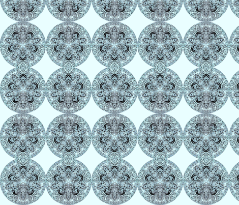 snow_kaleidoscope 2 fabric by uzumakijo on Spoonflower - custom fabric