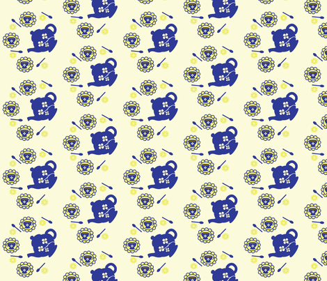 Provencial Tea Party fabric by kiwicuties on Spoonflower - custom fabric