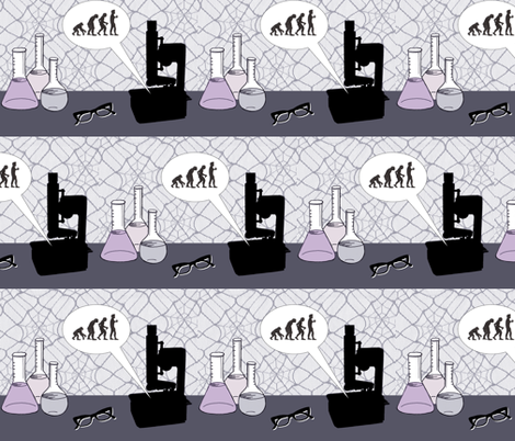 Mad Science fabric by flappergirl on Spoonflower - custom fabric