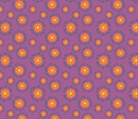 La Fleur Est Orange fabric by pantsmonkey on Spoonflower - custom fabric