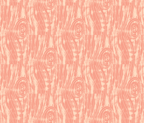 Woodgrain - Coral fabric by redhange on Spoonflower - custom fabric