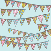Bunting on Blue