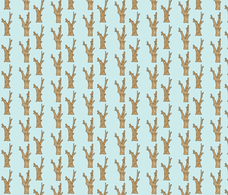 Tree Trunks on Blue fabric by redhange on Spoonflower - custom fabric