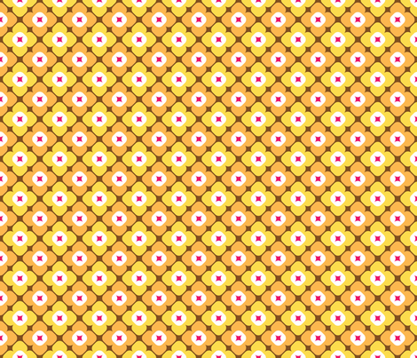 Molly in sunflower fabric by onelittlebird on Spoonflower - custom fabric