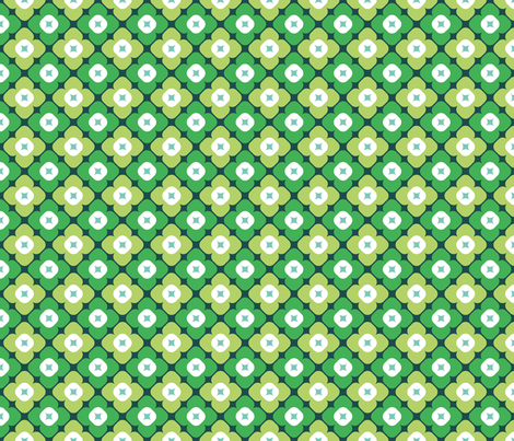 Molly in forest fabric by onelittlebird on Spoonflower - custom fabric