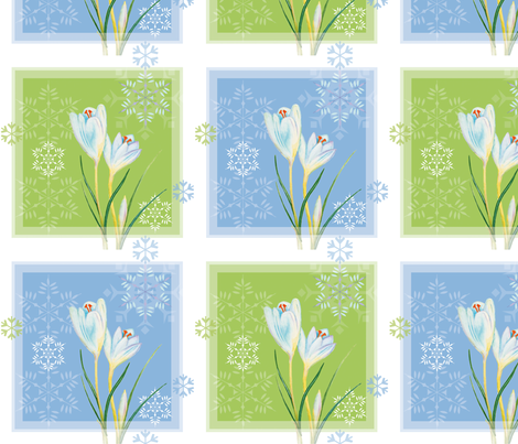 Crocus_in_Snow fabric by evamarion on Spoonflower - custom fabric