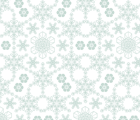 snowflake fabric by alicefukushima on Spoonflower - custom fabric
