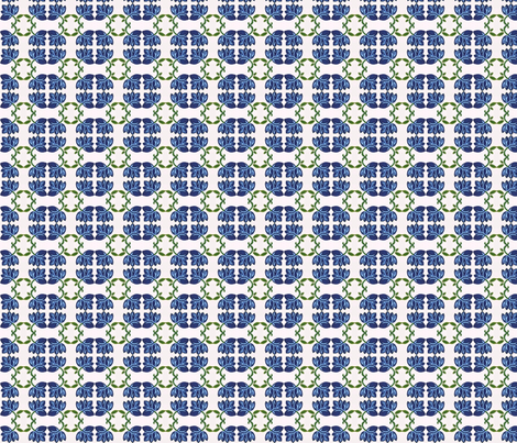 Blue Bud fabric by kdl on Spoonflower - custom fabric