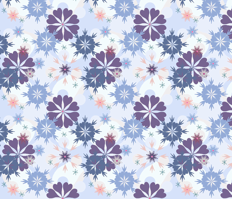 SNOW fabric by lovefrombeth on Spoonflower - custom fabric