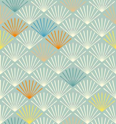 Shells bleu