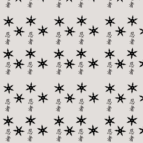 Ninja Throwing Star fabric by kiwicuties on Spoonflower - custom fabric