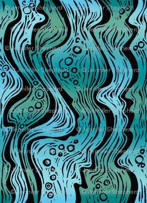 Water (deep teal/turquoise)