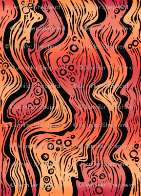 Lava (bright orange/red)