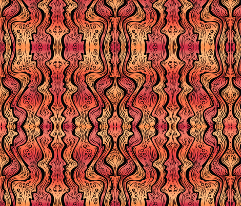 Lava (bright orange/red) fabric by jenithea on Spoonflower - custom fabric