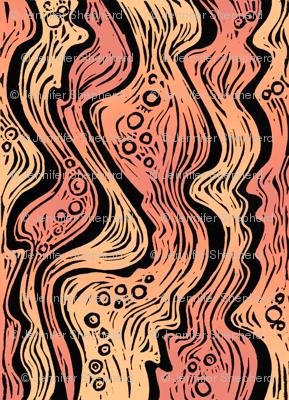 Lava (soft orange/red)