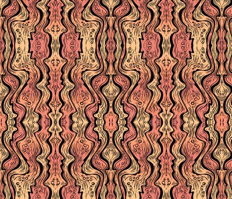 Lava (soft orange/red) fabric by jenithea on Spoonflower - custom fabric