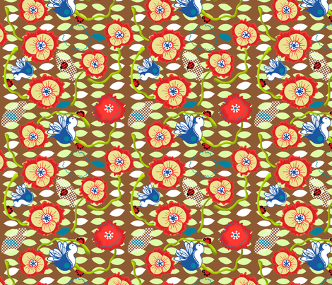 hello_little_one fabric by flyingtreestudios on Spoonflower - custom fabric