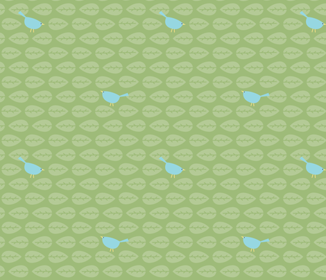 Peek-a-Boo Birdy fabric by freshlypieced on Spoonflower - custom fabric