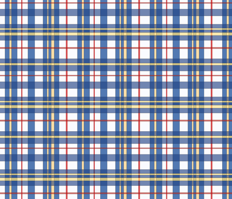 Blue Plaid fabric by cricketnoel on Spoonflower - custom fabric