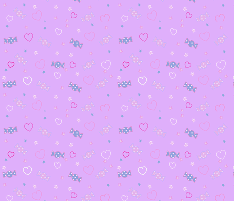 Unicorn Fantasy Candy Repeat Lavender fabric by pinkmacaroon on Spoonflower - custom fabric