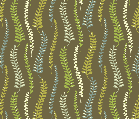 fernyforestchoco fabric by kimkim on Spoonflower - custom fabric