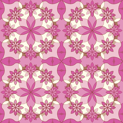 Sweet Garlands - Lavender  fabric by strive on Spoonflower - custom fabric