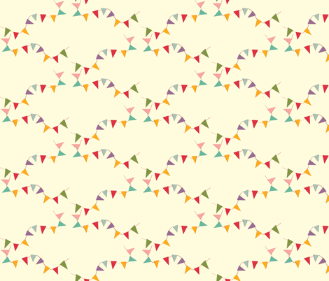 bunting fabric by heidikenney on Spoonflower - custom fabric