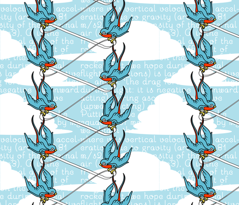 falling with style fabric by thirdhalfstudios on Spoonflower - custom fabric