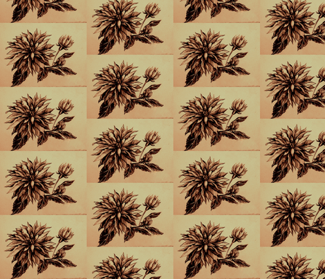 card_orange_flower_1 fabric by yarrow4 on Spoonflower - custom fabric