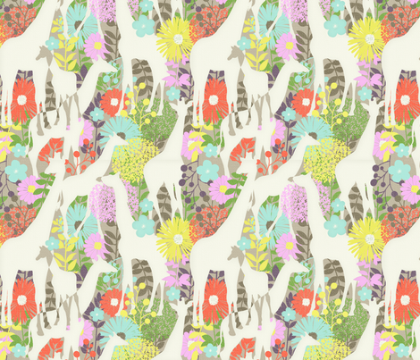 Giraffe Family fabric by katherina_london on Spoonflower - custom fabric