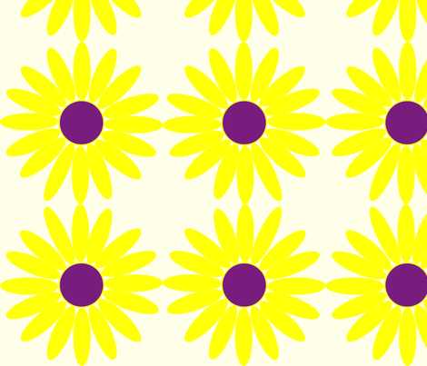 Daisy Dot fabric by angela_s on Spoonflower - custom fabric