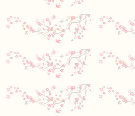 Harper Cherry Blossom fabric by thehandmadehome on Spoonflower - custom fabric