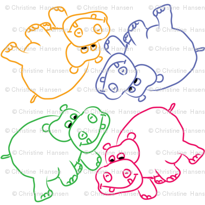 Hippo Outlines