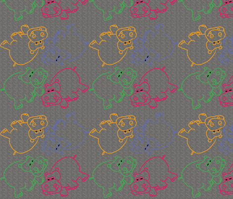 Hippo-Skin-Background fabric by coveredbydesign on Spoonflower - custom fabric