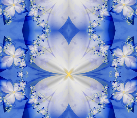 flower flow fabric by winter on Spoonflower - custom fabric
