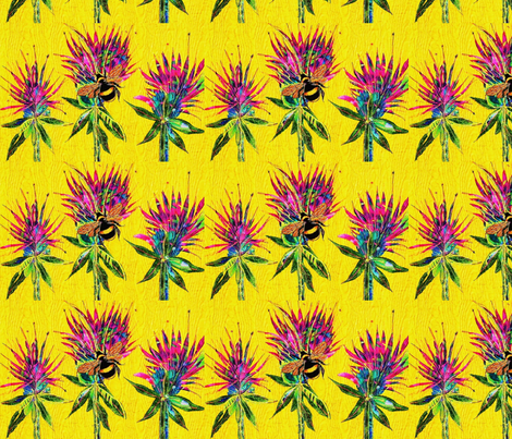 Bee Balm Field fabric by frances_hollidayalford on Spoonflower - custom fabric
