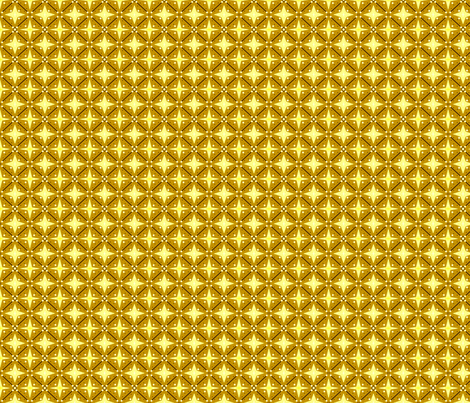 Bitty in yellow fabric by marielamb on Spoonflower - custom fabric