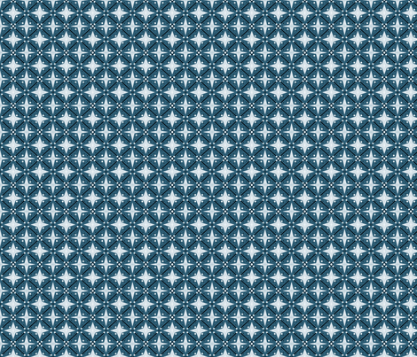 Bitty in blue fabric by marielamb on Spoonflower - custom fabric