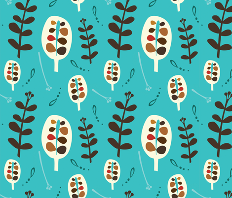 Whimsical_Garden_BAE4 fabric by birdsandbe on Spoonflower - custom fabric