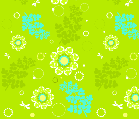 floralfern fabric by flock on Spoonflower - custom fabric