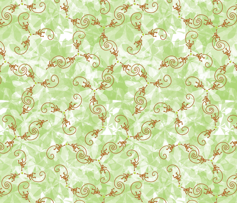 monkey wants apple fabric by nicholeann on Spoonflower - custom fabric