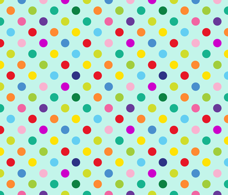 Polly Spots/Aqua (M) fabric by spellstone on Spoonflower - custom fabric