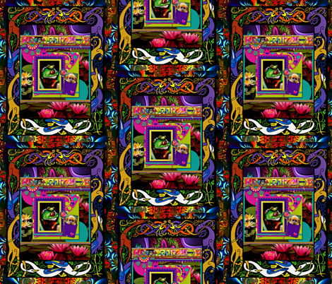 Psychedelic Monkey Surprise  fabric by whimzwhirled on Spoonflower - custom fabric