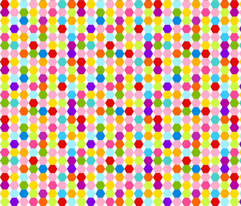 Multi Colour Hexagons fabric by carinaenvoldsenharris on Spoonflower - custom fabric