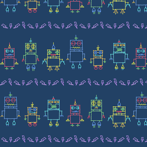 the Distant Future (Slate Blue) fabric by leighr on Spoonflower - custom fabric