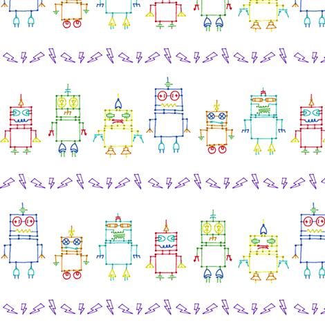 the Distant Future (White) fabric by leighr on Spoonflower - custom fabric