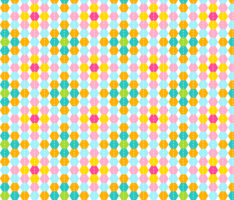 Stripy Hexagon fabric by carinaenvoldsenharris on Spoonflower - custom fabric