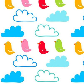 Happy Clouds and Birds